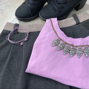 Rachel Roy Flannel Gray Short Skirt size 6
